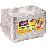 Alba Moldes de aluminio profesional 2,32 litros x 50 moldes x Aluminio Rectangular, 31,5 x 20,7 x 4 centímetros, tamaño Profesional, conservación Alimentos