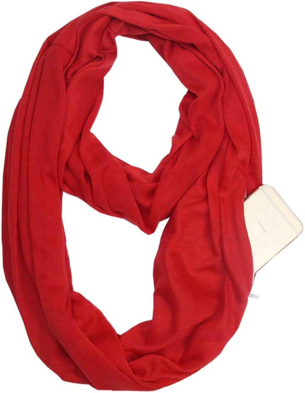 Bestag Infinity Pocket Scarf for Women with Hidden Zipper