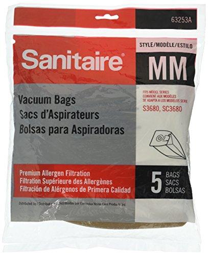 Sanitaire Eureka Electrolux Style MM Premium Allergen Filtration 5pk 63253 Vacuum Bags, White