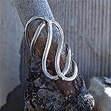 Anillo de plata moderno de moda para mujer dedo pulgar dama