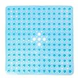 Pauwer Quadratische rutschfeste Badematte aus Transparentem PVC Bade- und Duschmatte Antibakterielle...