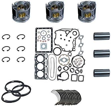 Gasket Max 62% mart OFF Set+Piston+Ring+Bearings+Washer for K3M Engine Mitsubishi