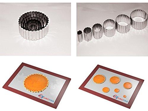 Euro Tins - Set di 6 coppapasta Rotondi con Bordo Ondulato
