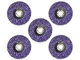 5 Stück Reinigungsscheibe Grobreinigungsscheibe CSD Ø 115mm CBS für Winkelschleifer Clean Strip Disc Premium Purple Nylongewebescheibe