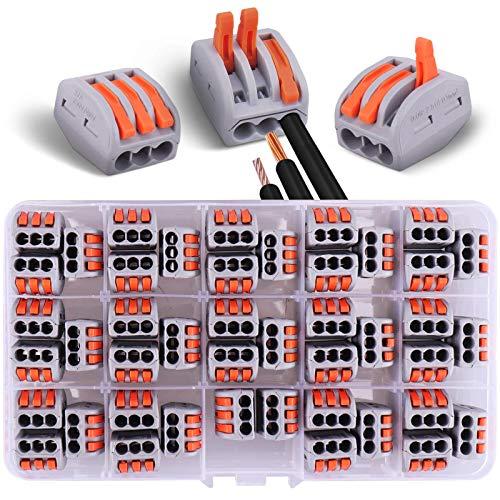 44pcs Connecteurs électriques 3 entrées avec levier de commande