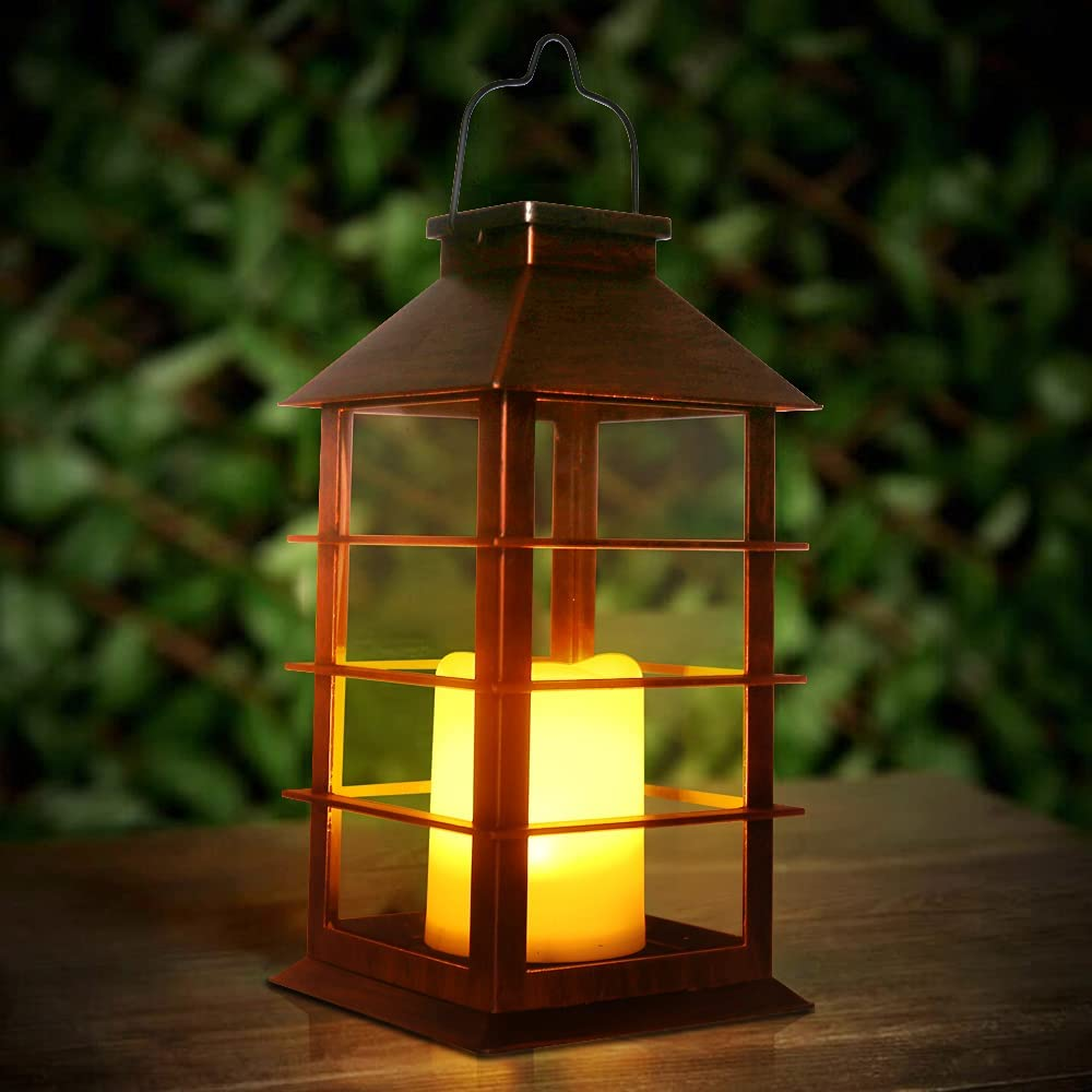 newvivid Solar Lantern with Flameless Powered High order Max 81% OFF Candles LED