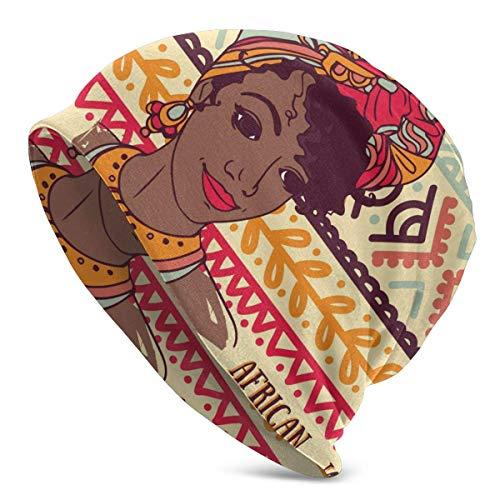 Mathillda roet mooie AfroAmerikaanse vrouwen muts mannen winter warm lichtgewicht casual cuff beanie