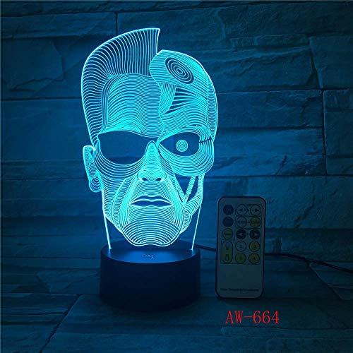 Elektronisches Geschenk 3D-LED-Leuchten Atmosphärenlampe 3D-Stereo-Nachtlicht Nachttischlampe Kreative Lampe Nachtwäsche