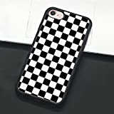 Checkerboard Phone Case for iPhone 11 Pro Max XS Max XR X 8 Plus 7 Plus 8 7 6 6s 5s 5 se Hard Cover Grid Lattice Plaid Tartan Damier House Checkerboard Chessboard Checker Flag (iPhone 6 6s,1)