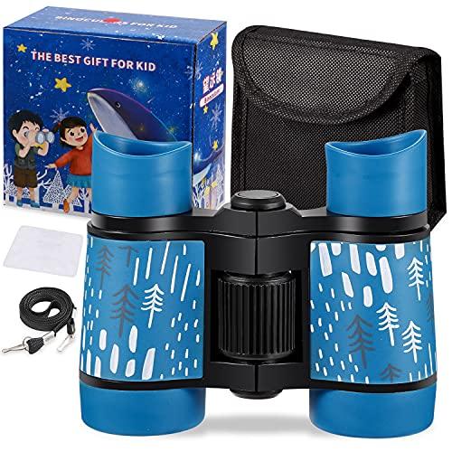 Prismáticos para niños a prueba de golpes, juego de prismáticos de juguete, observación de aves, aprendizaje educativo, regalos...