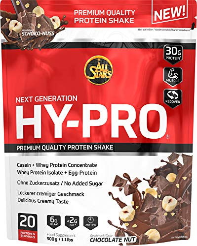 All Stars Hy-Pro Protein, Schoko-Nuss, 1er Pack (1 x 500 g)