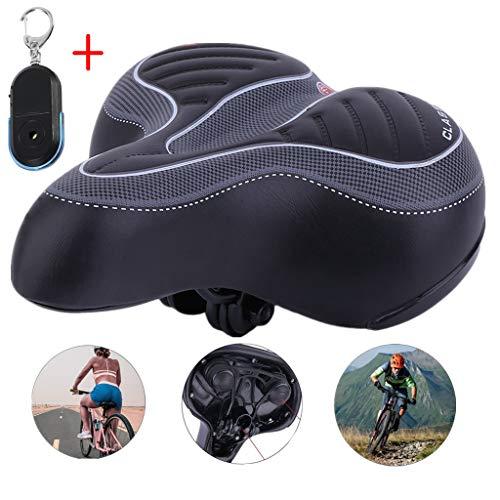 Cheekbonny Sillín de Bicicleta, cómodo Asiento de Bicicleta Espuma de Memoria Cojín para Silla de Montar Acolchada para Bicicletas de Carretera/MTB/Bicicletas de Ciudad