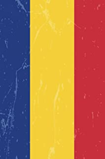 Romania Flag Journal: Romania Travel Diary, Romanian Holiday Souvenir Book, lined Journal to write in