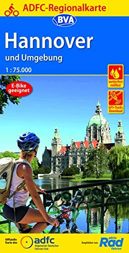 ADFC-Regionalkarte Hannover und Umgebung, 1:75.000, reiß- und wetterfest, GPS-Tracks Download (ADFC-Regionalkarte 1:75000)