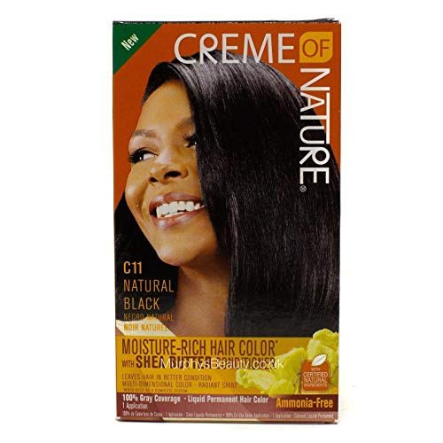 Creme of Nature Moisture Rich Hair Color with Shea Butter Conditioner - C11 Natural Black