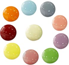 10 Lot of Colorful 4-Square Red-Green-Blue-Yellow Child Dresser Drawer Knobs
