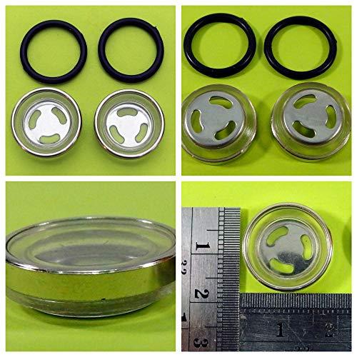 2x SCHAUGLAS Ø 18 mm Bremspumpe Bremsflüssigkeitsbehälter passt für Roller Chinaroller