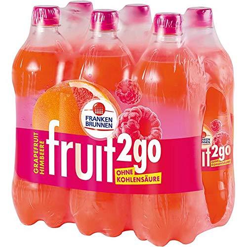 Franken Brunnen fruit2go Grapefruit-Himbeere Erfrischungsgetränk ohne Kohlensäure 6 x 0,75l (inkl. 1,50 € Pfand)