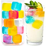 Reusable Ice Cubes For Drinks - Chills Drinks Without Diluting Them - Made From BPA Free Plastic - Refreezable, Washable, Quick And Easy To Use - For All Beverages - Pack Of 30 With Storage Container