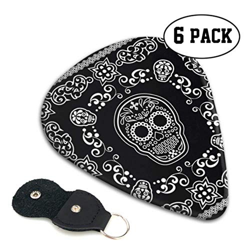 Bandana Sugar Skull Picks For Guitar Design Guitar Picks 6 Pack Heavy