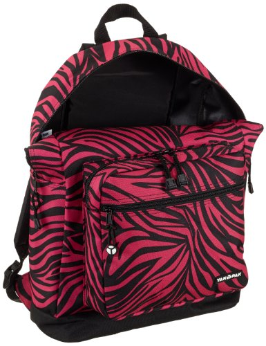 Yak Pak Deluxe Classic Student Backpack 23 L Pink fuchsia zebra Size:45 cm