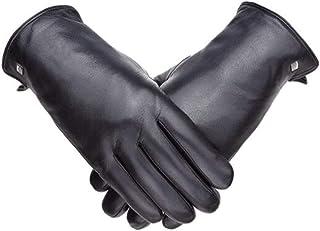 革の肥厚プラスベルベット柔らかなヤギの男性の手袋防風寒い冬暖かい手袋を乗って19841101-01B黒XXL