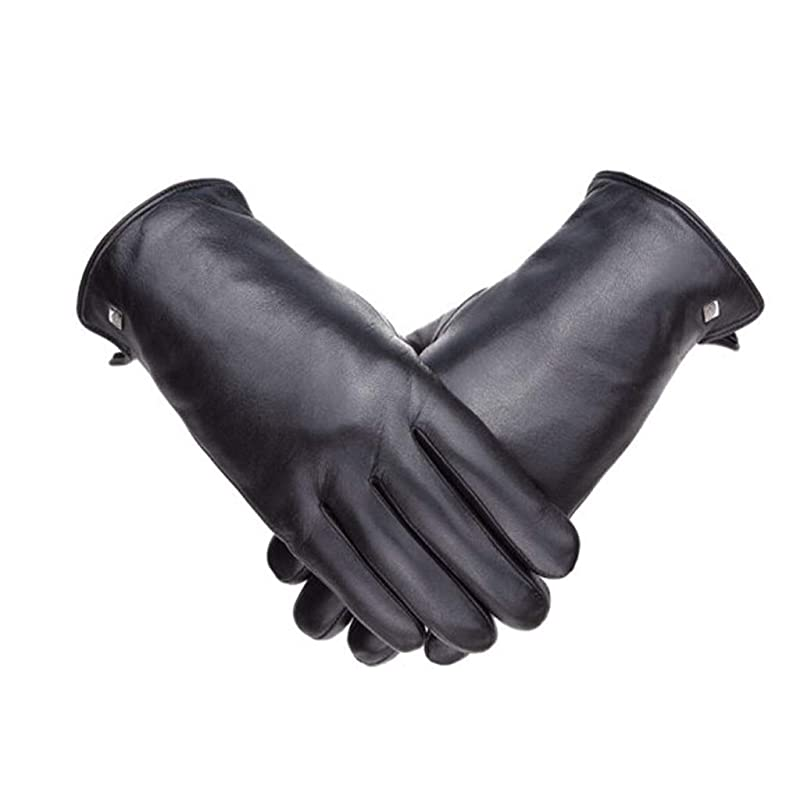保護するサスペンション要塞革の肥厚プラスベルベット柔らかなヤギの男性の手袋防風寒い冬暖かい手袋を乗って19841101-01B黒XXL