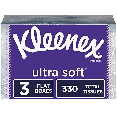 Kleenex Ultra Soft Facial Tissues 3 Rectangular Tissue Boxes 110 Tissues per Box 330 Tissues Total