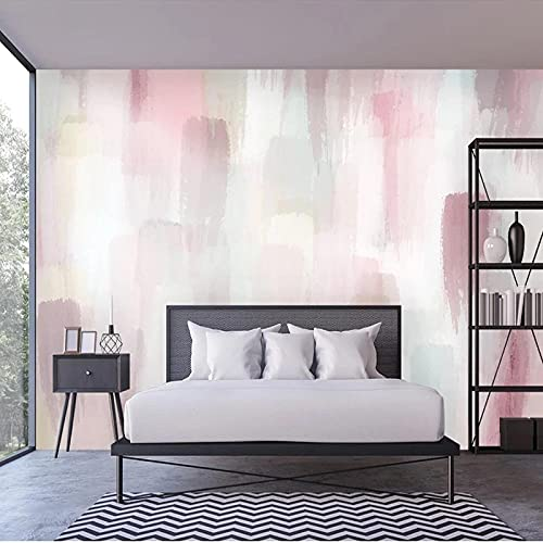 Papel De Pared De Pintura De Acuarela Abstracta Rosa Mural 3D Para Sala De Estar TV Pared Decoración Del Hogar Papel Tapiz Impermeable Paño De Pared