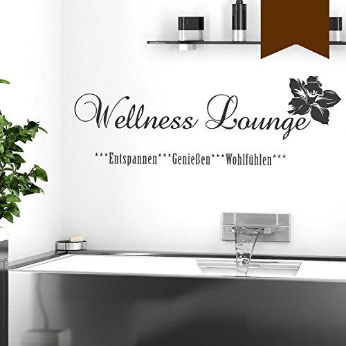 """Preisvergleich Produktbild Wandkings Wandtattoo """"Wellness Lounge"""" 50 x 17 cm braun - erhältlich in 33 Farben"""