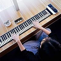 for Toys & Hobbies TYG VVAVE 61キーハンドロール電子ピアノ (色 : ブラック)