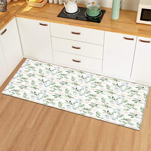 HLXX Alfombra de Cocina Alfombra Antideslizante Alfombra de Puerta de Entrada Alfombras de Piso Alfombras y alfombras para Exteriores para el hogar Sala de Estar Dormitorio A3 50x160cm
