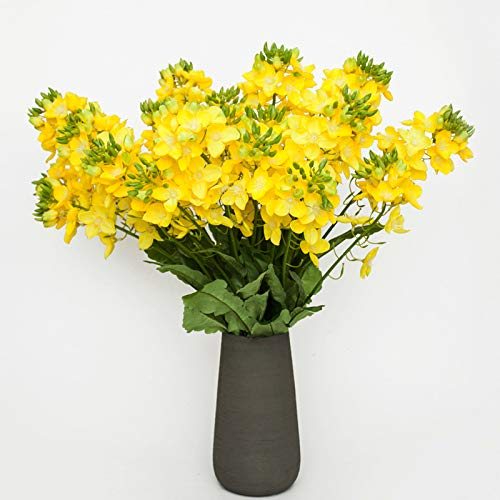 anjs456 Künstliche Blume 2 Raps Blumen Gefälschte Blume Outdoor Schießen Dekoration Mall Indoor Frühling Schönheit Anordnung pro