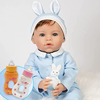 Paradise Galleries Bundle Realistic Easter Toddler Boy Doll - Honey Bunny, 6-Piece Reborn Doll Gift Set with Magnetic Paci...