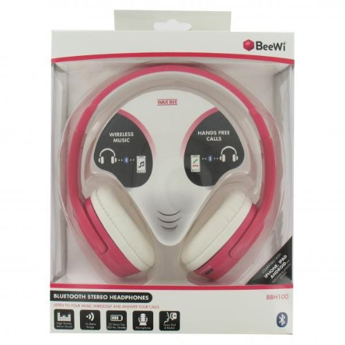 BeeWi BBH100 Cuffie Stereo Bluetooth Rosa