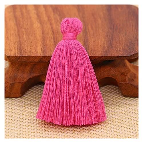 12 unids 5 cm poliéster algodón borla colgantes franja artesanía bricolaje pendientes joyería ropa de vestir de la prenda casera textiles franja componentes ( Color : 05 Rose , Size : 5cm 12pcs )