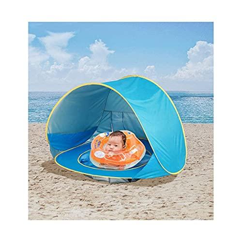 Massager Children Beach Cortina, Mini Piscina Infantil Inflable, Pop Up Tienda Plegable portátil, protección Solar Anti-UV para bebés ( Color : Blue )