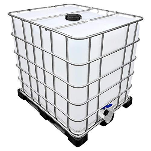 1000l IBC Wassertank auf PE-Palette (Food) REBO NEUWERTIG...