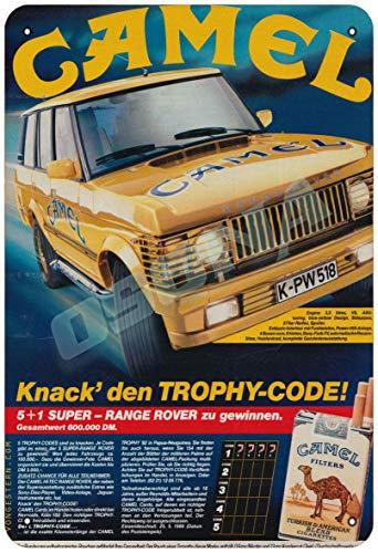 OSONA Kamel cigarett trofé kod retro nostalgisk traditionell rostfärg burk logga reklam slående väggdekoration gåva