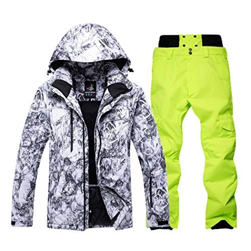 Loue99va Herren Skianzug Marken Winddicht Wasserdicht Atmungsaktiv Warm Set Skijacke Schneehosen Winter Snowboard Anzüge