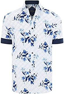 Tarocash Men's Clovelly Stretch Floral Shirt Long Sleeve Fit Sizes XS-5XL for Going Out Smart Casual