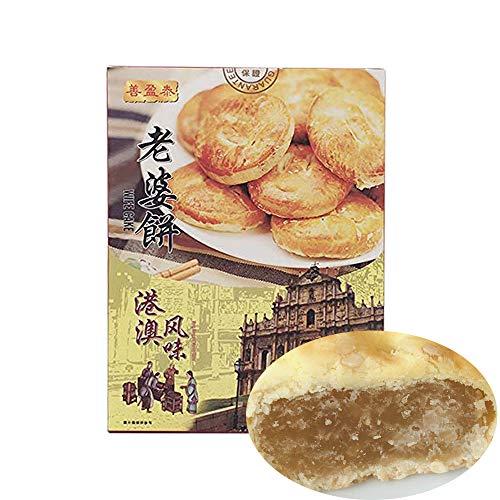 善盈泰 老婆餅(ラオポーピン)Wife Cake (Hongkong And Macao Flavor) 300g お土産小分け10個入 中華お菓子 中華風点心 港澳?味 礼盒包装