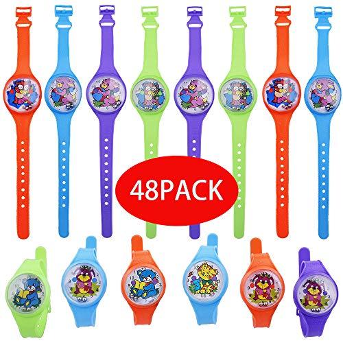 Gudotra 48pz Orologi Labirinto Colorati Bambini Bracciali Orologio Gadget Compleanno Bambini Giocattoli per Regalino Pensierini Bomboniere Natale
