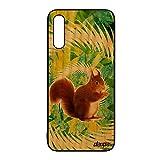 utaupia Coque en Bois Silicone ecureuil pour Galaxy A50 Design Foret Case 4G Antichoc Texture...