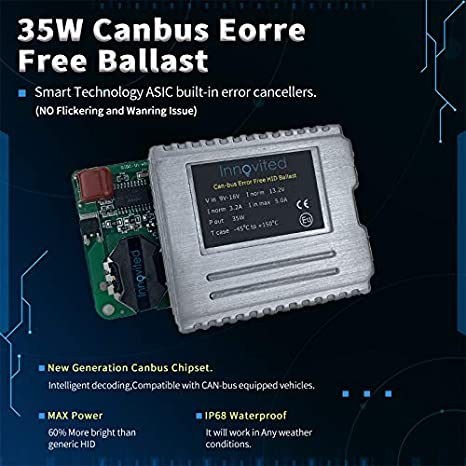 5000K 2 Year Warranty Innovited Premium AC Canbus Error Free HID Lights No Flicker D2S D2R D2H Prue White