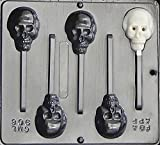 Candy Molds N More Halloween Skull Lollipop Chocolate Candy Mold, Item906