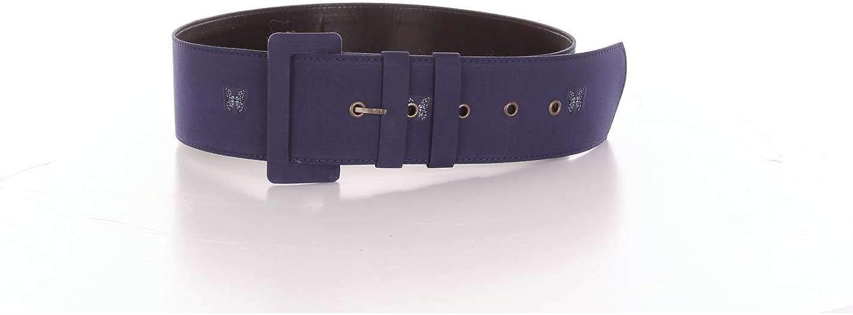 Aglini Women's 119212NAVYblueE bluee Leather Belt