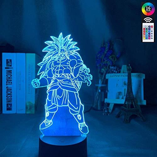 Lámpara de ilusión 3D, luz nocturna con bola de dragón, para niños, dormitorio, decoración, multicolor, batería, mejor regalo de cumpleaños para niños