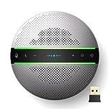 Altavoz Bluetooth para conferencias, Altavoz para conferencias con 6 micrófonos, Conexión USB/Dongle/Bluetooth, Compatible con Las Principales Aplicaciones de conferencias para la Oficina en casa