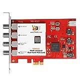TBS6522 Dual Tuner PCIe Card DVB-S2X S2 S T2 T C2 C ISDB-T Multi Standard Digital TV Card Live TV/Window/Linux/HTPC/IPTV Server